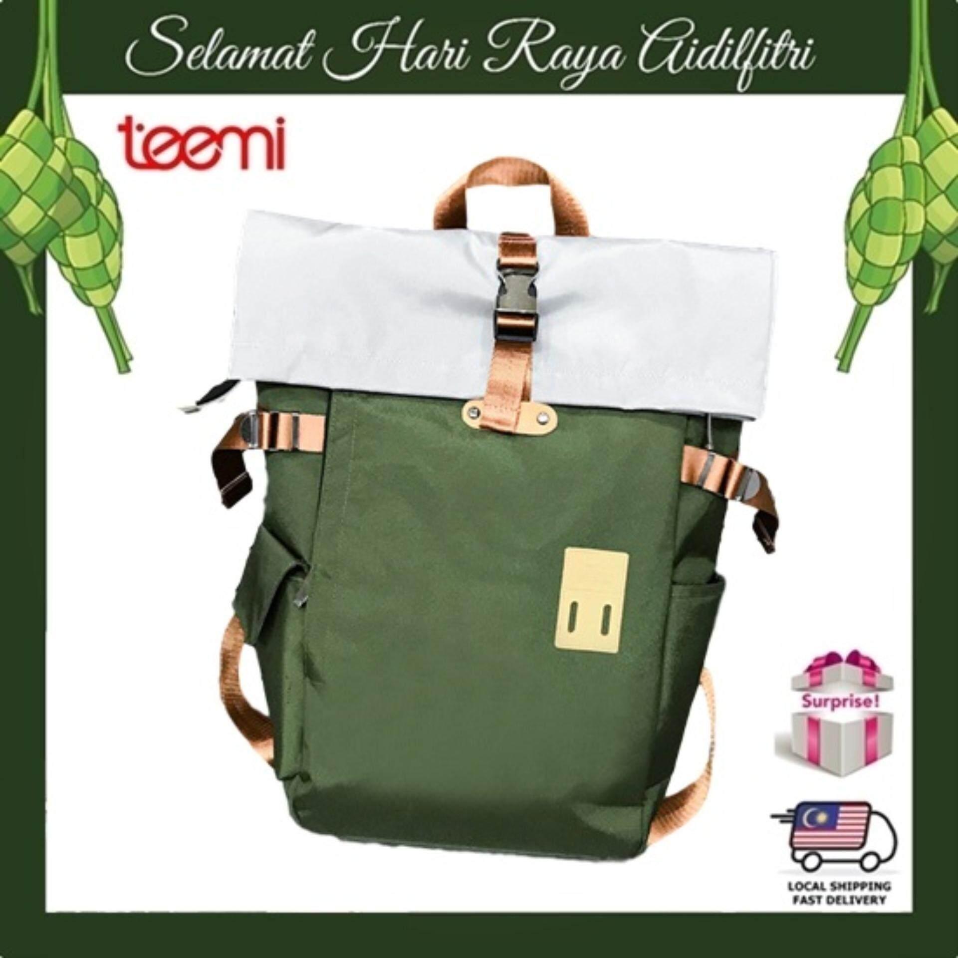 TEEMI Roll Top Satchel Travel Backpack Laptop Bag Knapsack Bergen Rucksack