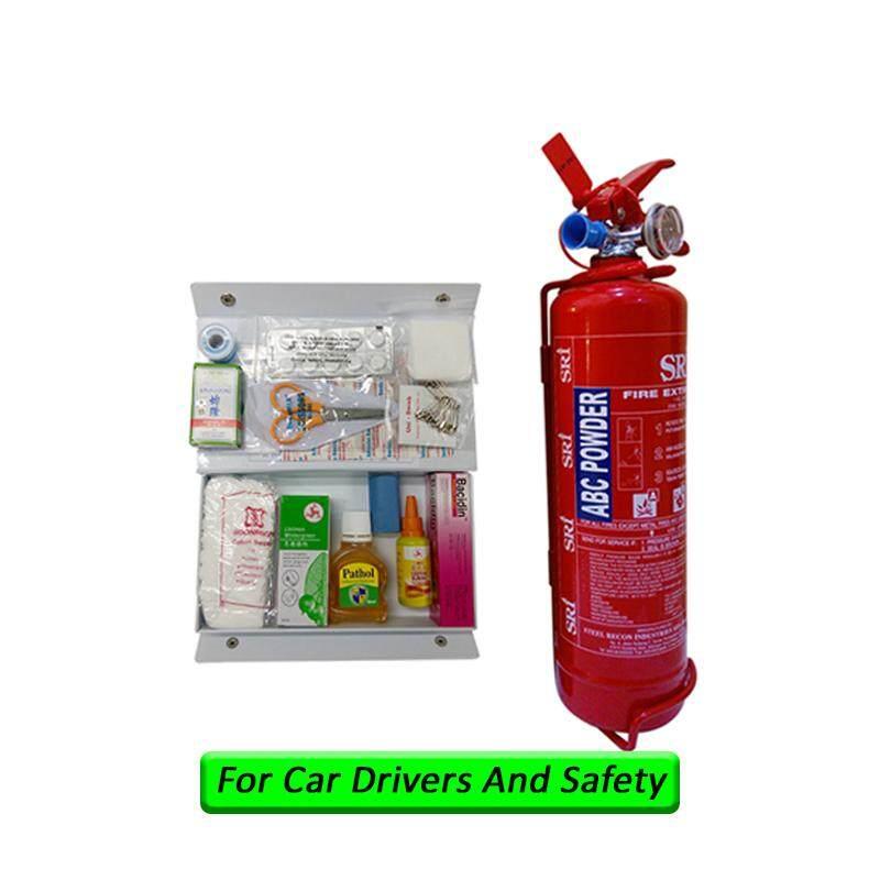 LittleThingy 1Kg Fire Extinguisher Sri Year 2019 Production Sirim Puspakom Ready And First Aid Kit For Vehicle Grab Car Drivers Taxi Site Work Pemadam Api Set Untuk Kereta Grab