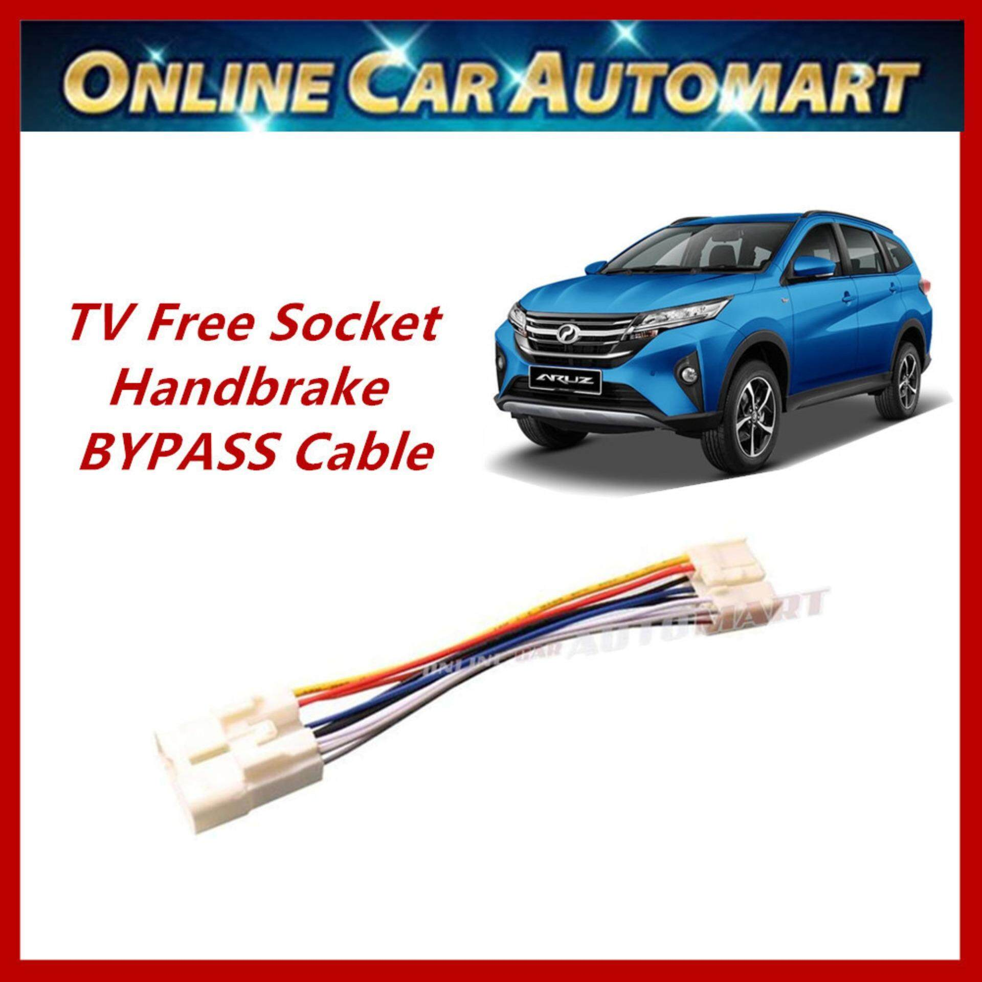 Perodua Aruz Plug n Play handbrake ByPass Car DVD Video
