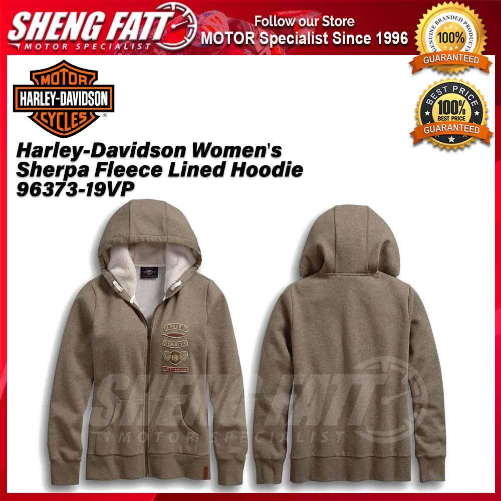 Harley-Davidson Women's Sherpa Fleece Lined Hoodie 96373-19VP - [ORIGINAL]