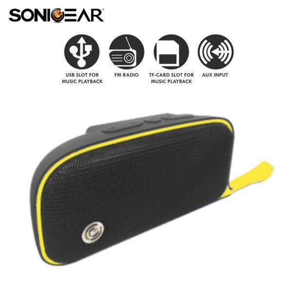 Sonic Gear P5000 Moby Portable Wireless Speaker Rechargeable 1200mAh Bluetooth 4.2 52mm Driver with 5 Music Playback Mode (FM Radio / TF Card / USB / AUX / BT)