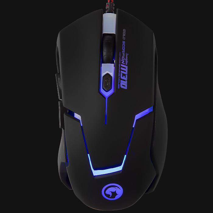 Marvo Scorpion M310 Gaming Optical Mouse 2400DPI 6D Wired USB 1.8m On-the-Fly DPI Switch Button 7 Color Blacklight