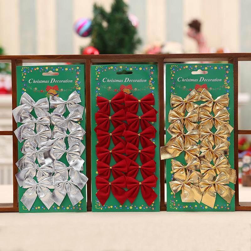 36X BOW CHRISTMAS TREE  BOWKNOT PARTY HOME WEDDING DECOR