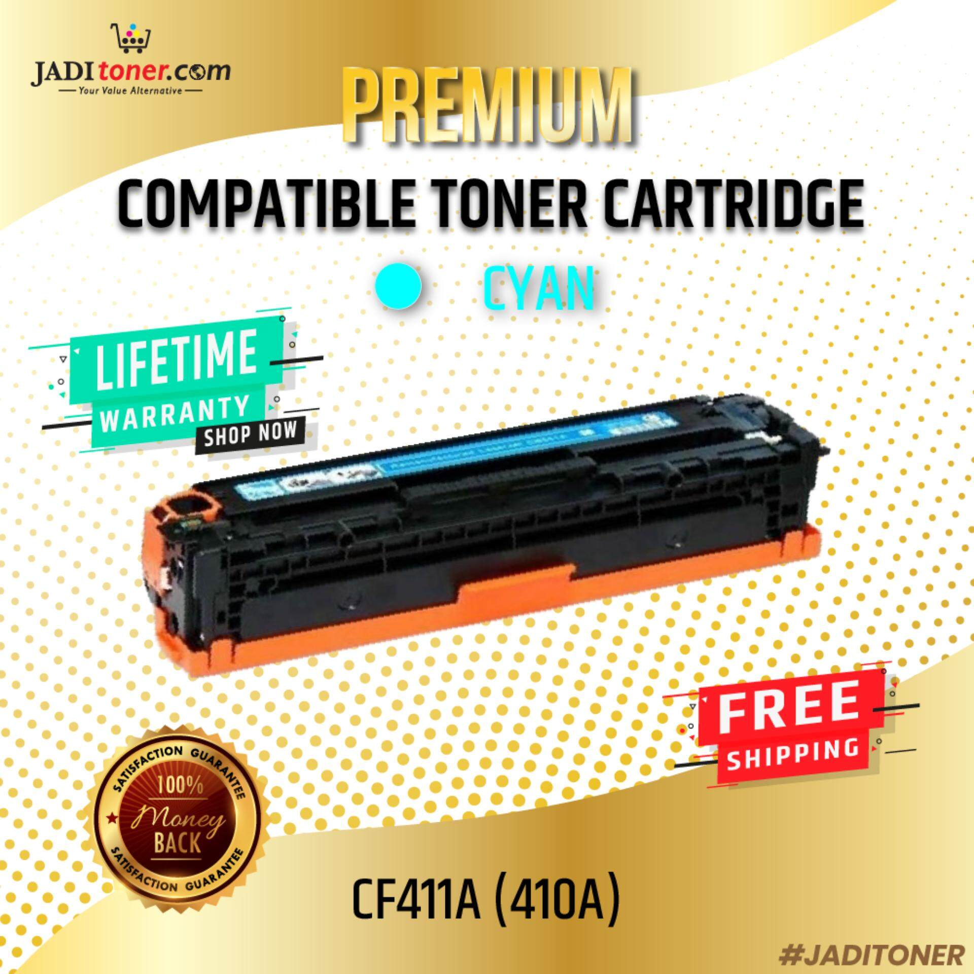 Compatible CF411A 410A Cyan Laser Toner Cartridge For Use In HP Color LaserJet Pro M452 /  M477 / MFP M377 / HP Color LaserJet Pro M452 / HP Color LaserJet Pro MFP M477 / HP Color LaserJet Pro MFP M377 / HP CF411 411A