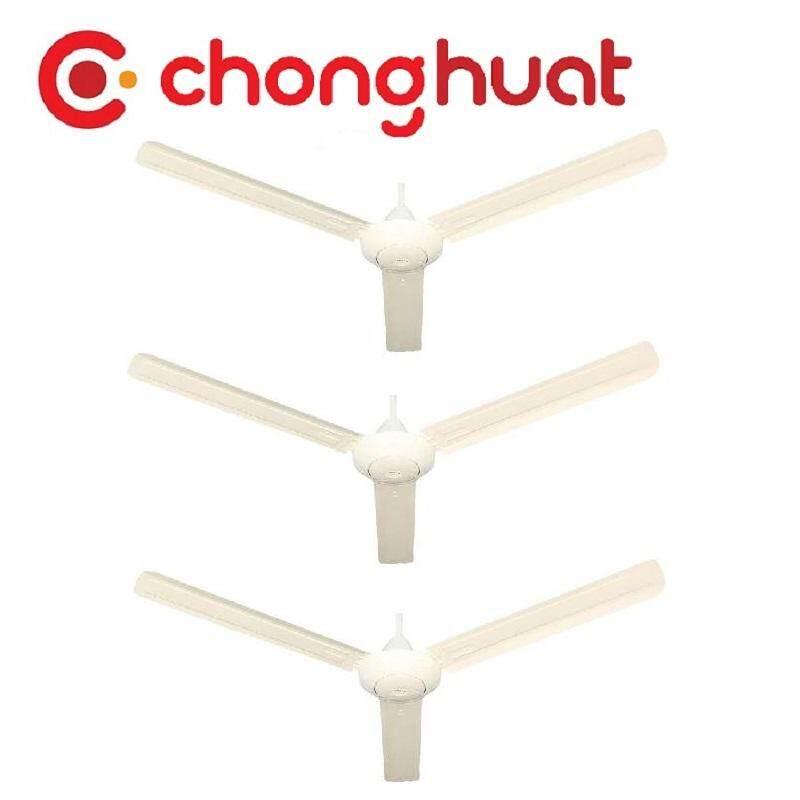 """Shunyo SH-60CF 60"""" Ceiling Fan White Trio Pack (3unit)"""