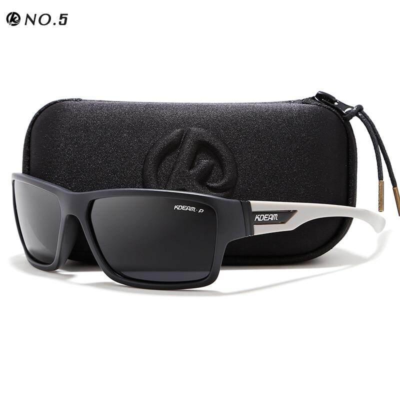 KDEAM กลางแจ้งแว่นกันแดดโพลาไรซ์แว่นตาแว่นตากันแดดผู้ชาย 100% UV ซิปกรณีแว่นตาเล่นกีฬา