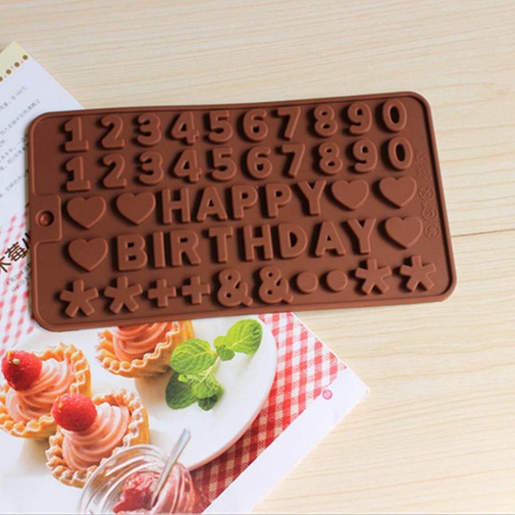 ... Loviver 2 Buah Huruf Alfabet Nomor Silikon Cetakan Fondan Kue Dekorasi Cetakan Pemanggang Coklat - 5