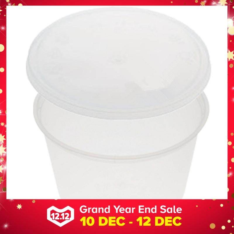 450ml PP Microwavable Round Containers With Lids Clear 10pcs