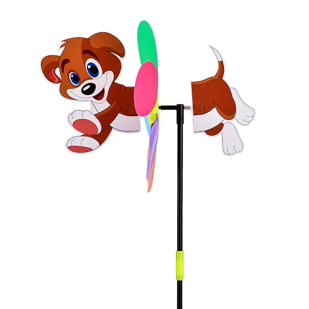 ซีดับเบิลยูบี®21นิ้วการ์ตูนBeeสุนัขกังหันลมลายสัตว์Wind Spinnerลานบ้านสวนของเล่นตกแต่ง