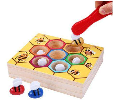 Wooden Bee Picking Playset
