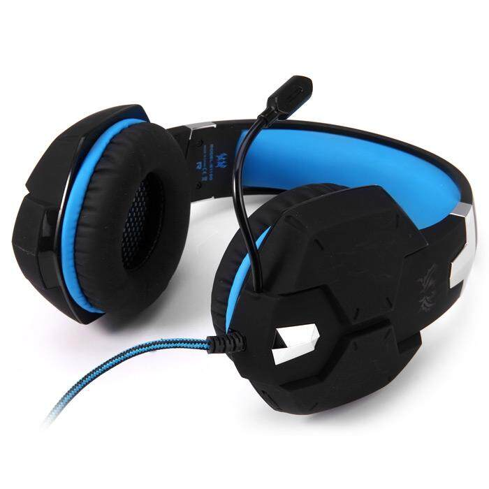KOTION EACH G1100 3.5MM VIBRATION FUNCTION PROFESSIONAL GAMING HEADPHONE GAMES HEADSET WITH MIC STEREO BASS BREATHING LED LIGHT FOR PC GAMER