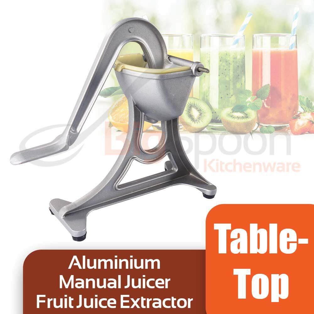 BIGSPOON Tabletop Manual Juicer Fruit Juice Extractor Aluminium Hand Press Orange Lemon Squeezer Kitchen Tool WY001