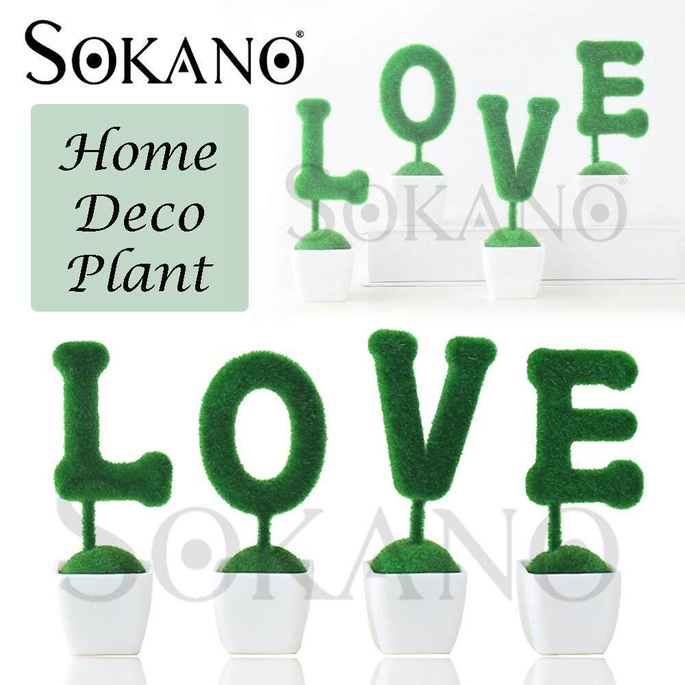 SOKANO Love Word Plant Potted Plant Home Deco Wedding Deco Table Deco Plant