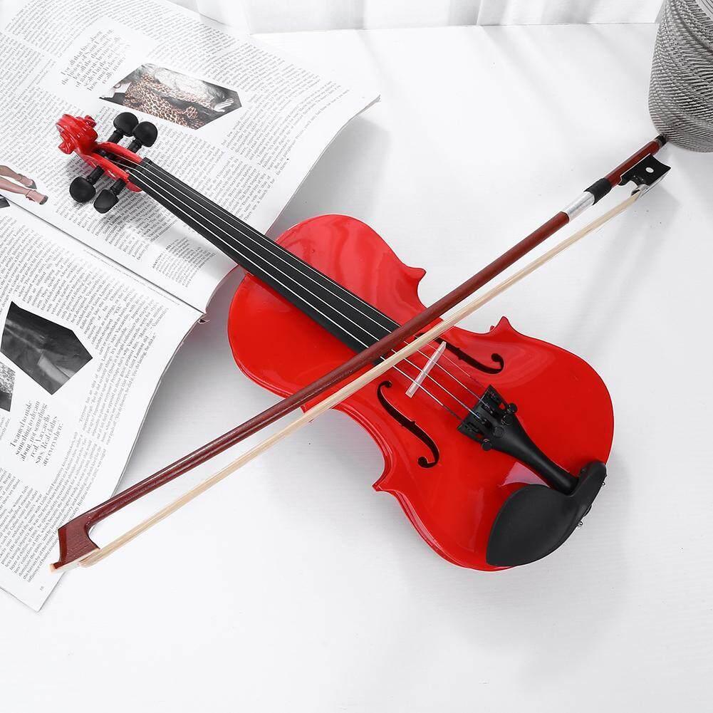 ... Buatan Tangan 1/8 Ukuran Biola Akustik Musik Biola dengan Kasus Bow Rosin - 5