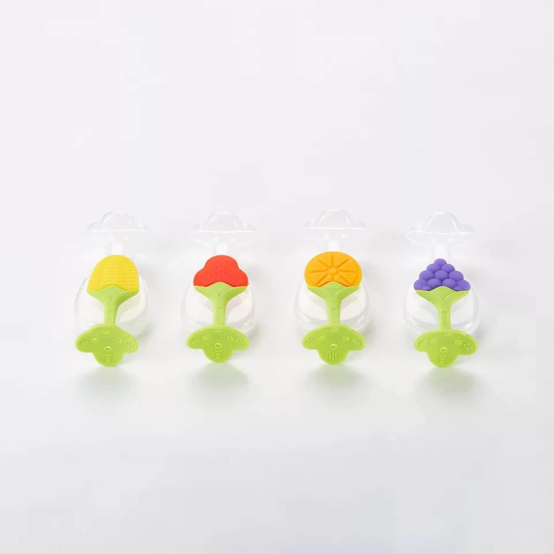 Cute Infant Baby Silicone Fruit Teether Tree Teether Teeth Training Tool