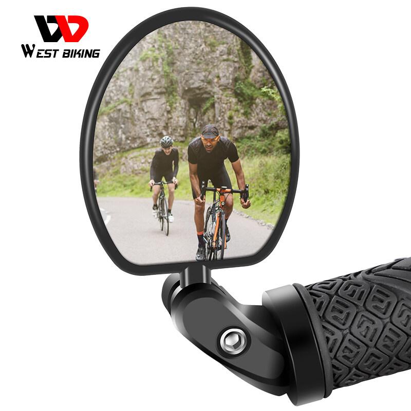 WEST BIKIN Roadmtbbicycle 360องศาบาร์จับหมุนกระจกสะท้อนกลับอุปกรณ์เสริมจักรยานเสือภูเขาความปลอดภัยขี่จักรยานกระจกมองหลัง