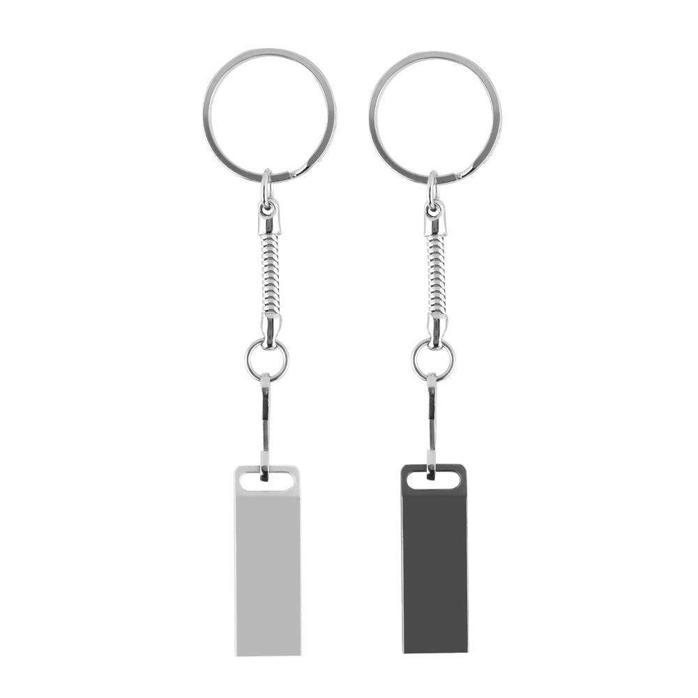 Components - USB2.0 Flash Drive Waterproof Disk With Metal Tape Key Ring - [GREY / SILVER]