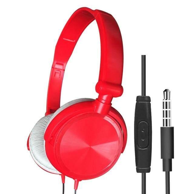 ของแท้ขายใหม่สายหูฟังมีไมโครโฟนหูฟังชุดหูฟัง BASS เสียงเพลงสเตอริโอหูฟังสำหรับ iPhone เสี่ยวหมี่โซนี่ Huawei PC