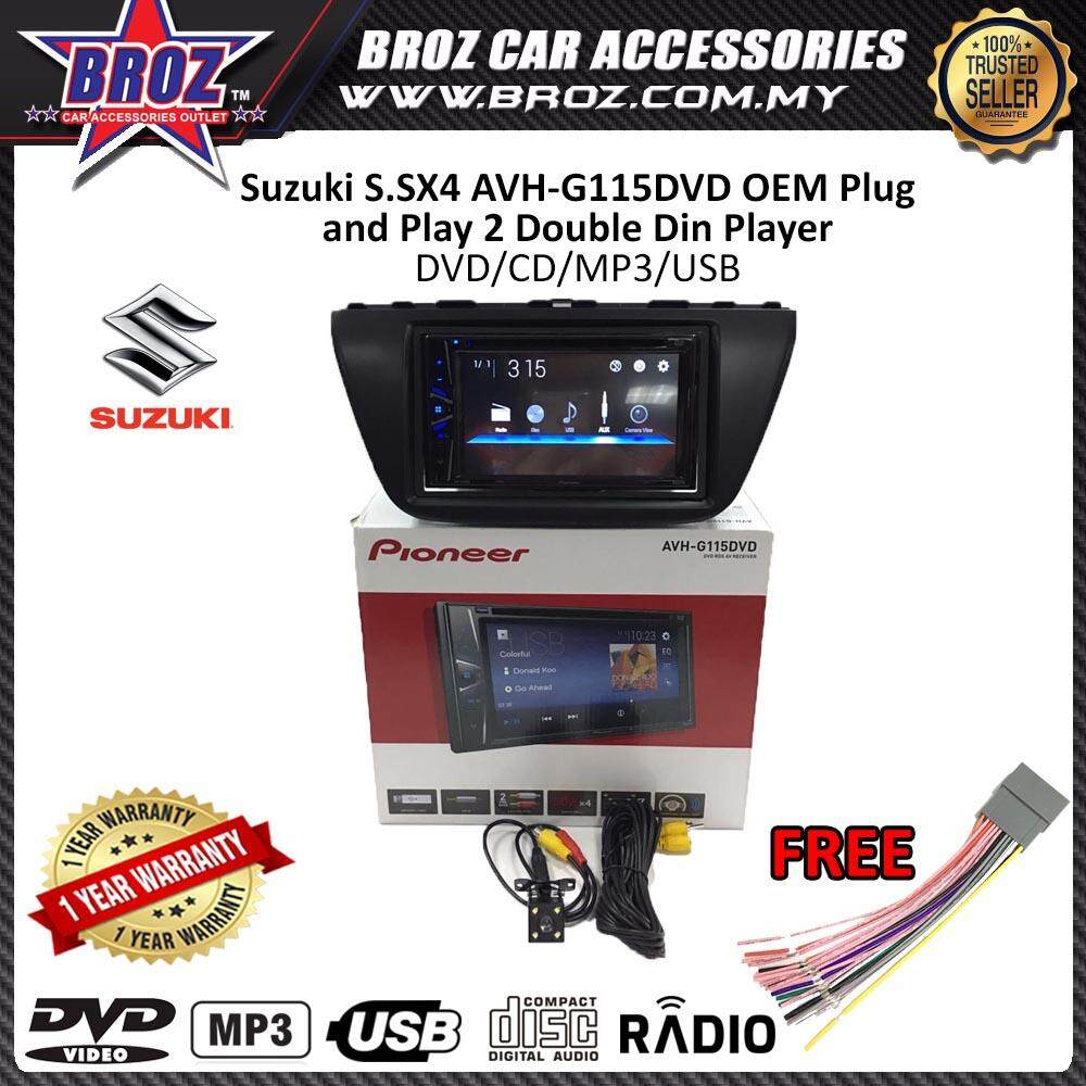 "Suzuki S.SX4 Pioneer AVH-G115DVD OEM Plug and Play 6.2"" Double Din XNRC PIONEER COLOR"