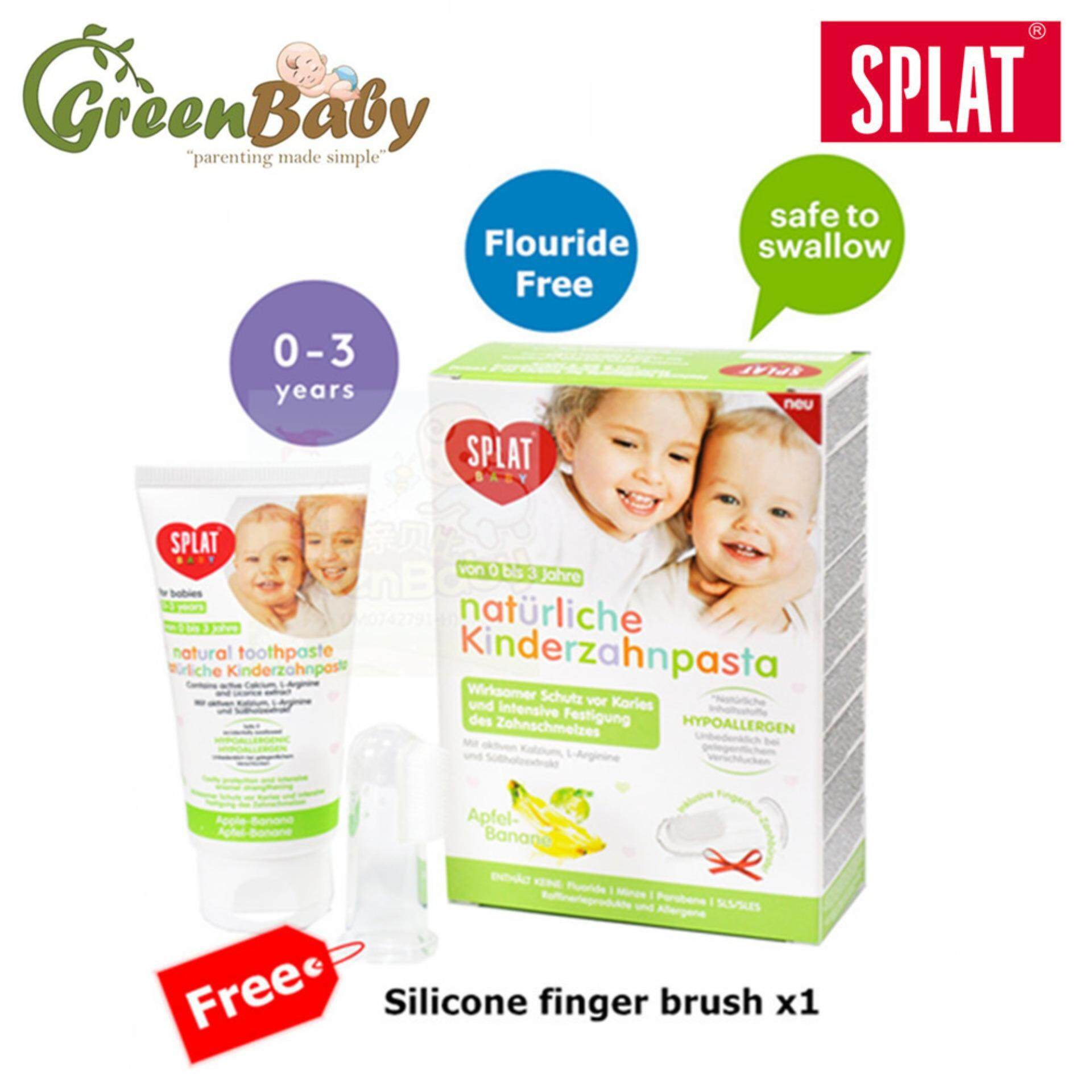 Splat Baby Natural Toothpaste for Babies  40ml  Apple Banana Flavor