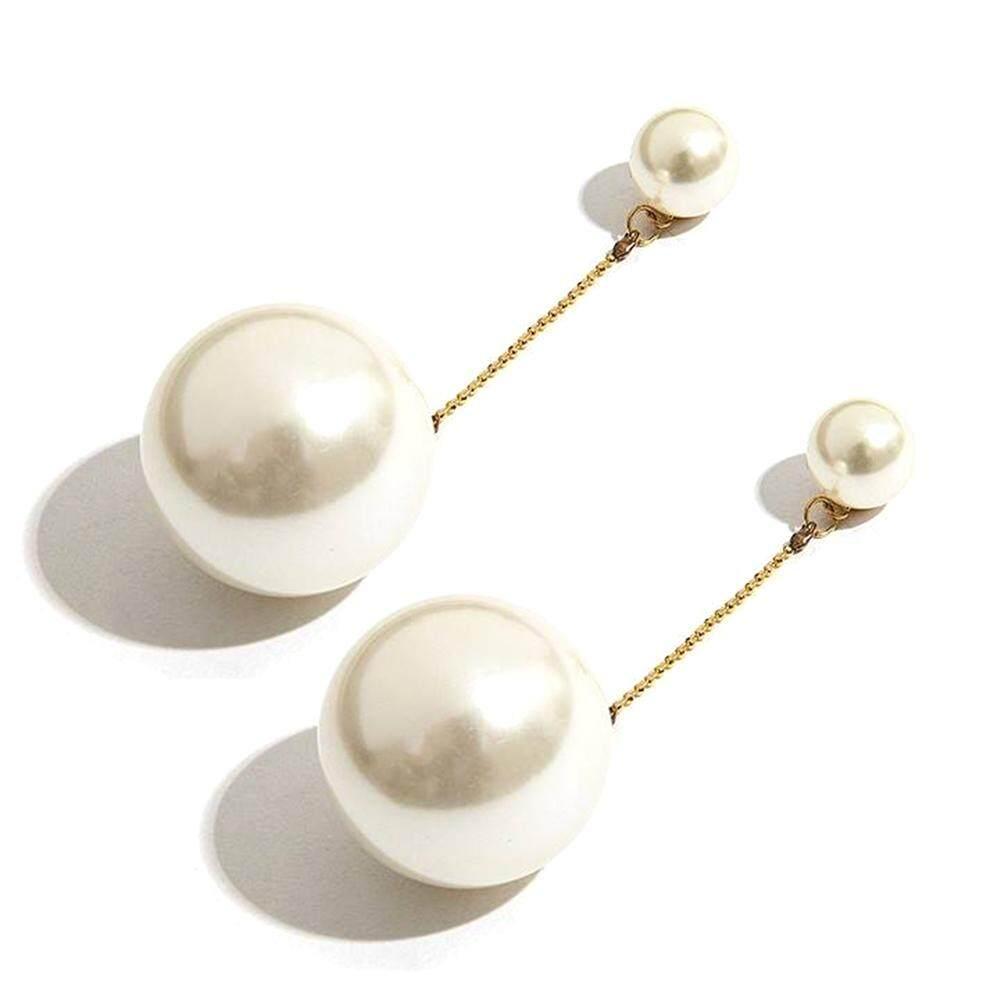 8b92131fc5d41 Talent Star Women Party Long Chain Tassel Big Faux Pearl Dangle Stud  Earrings Jewelry Gift