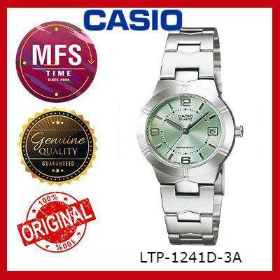 (2 YEARS WARRANTY) CASIO ORIGINAL ENTICER LTP-1241D-3A SERIES LADIES WATCH