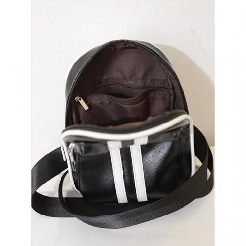 QQ Unisex Man Shoulder CrossBody Bag Chest PU Beg