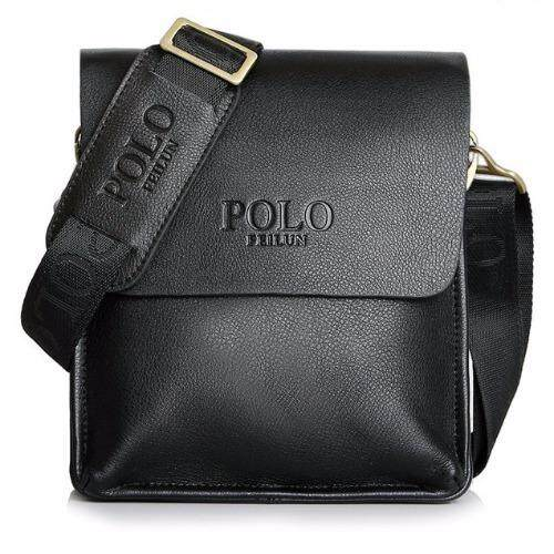 Modern  Leather Polo Shoulder Men Messenger Bag