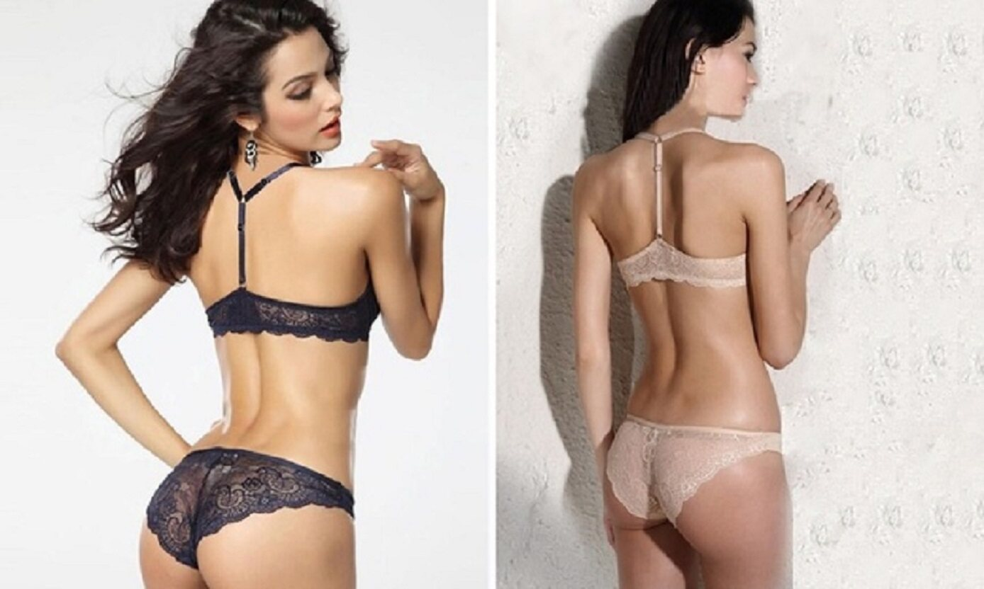 8384769f5c2c Clearance Below Cost - VS White Racerback Push Up Bra and Panty set