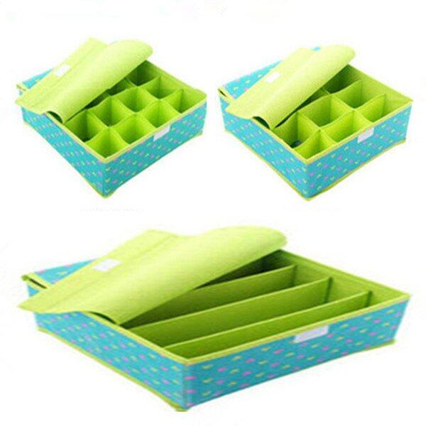 Clothes Storage Organiser Set of 3 (Green)
