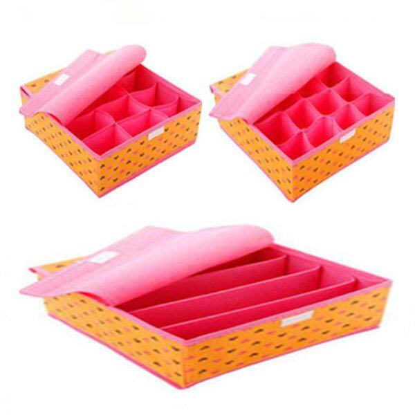 Clothes Storage Organiser Set of 3 (Orange)