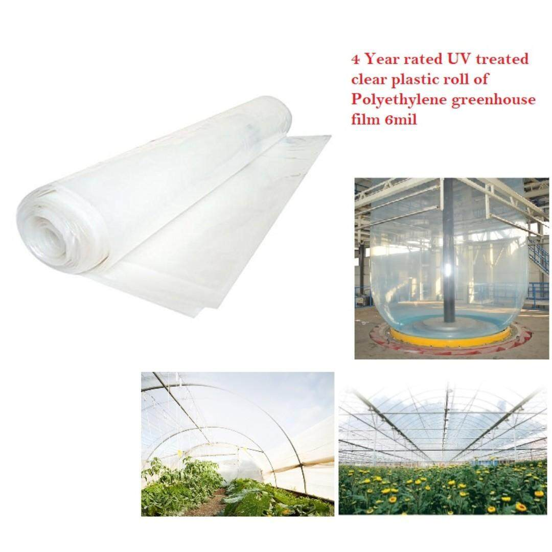 Agricultural Greenhouse Film is used in greenhouses that provide high tech production 24feet x 10feet