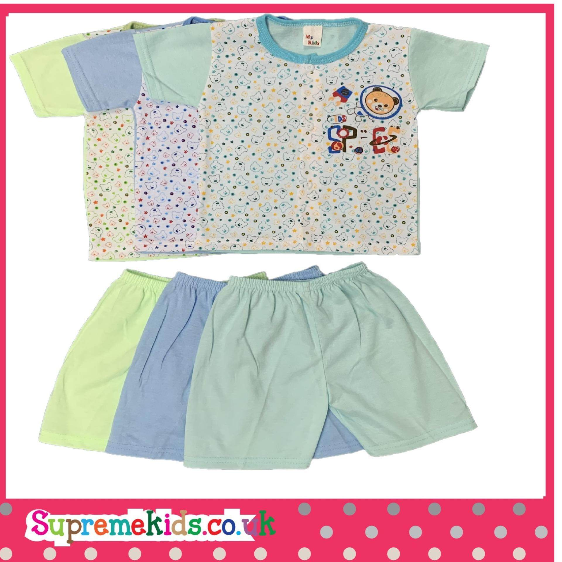 6 Pcs Space Bear NewBorn & Infant SSSP Casual wear up to 12Mth