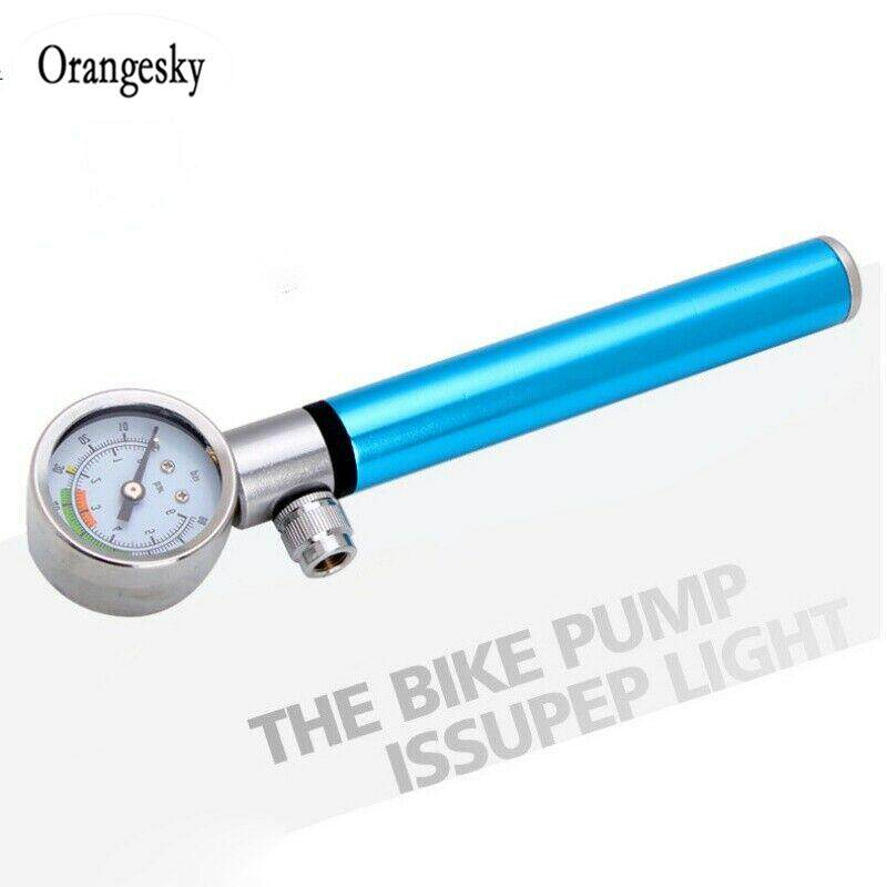 US. High Pressure Analog Mountain Bike MTB Air Suspension Shock Pump 210psi
