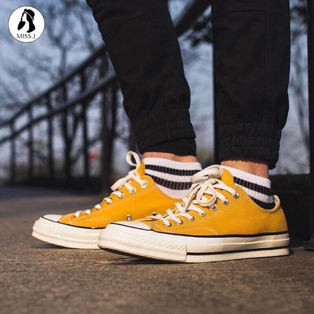 ยี่ห้อไหนดี  สกลนคร Converse 1970 S คลาสสิกสีเหลืองรองเท้าผ้าใบสำหรับชายและหญิงกีฬา Casual รองเท้าผ้าใบส้นแบน