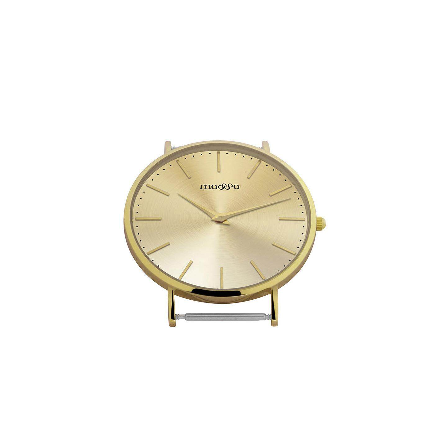 MASSA COLLECTIONS GRACE Full Gold Simple Minimal Exchange-able Nylon and Leather Ladies Watch