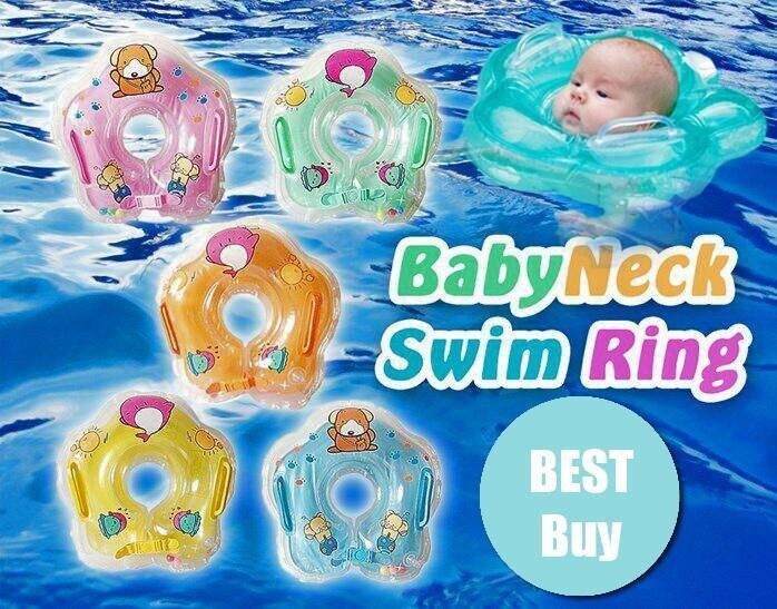 Infants Babies Swim Safety Soft Inflatable Neck Buoy Tube Ring Toys  (GREEN)