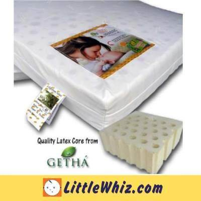 """Bumble Bee Baby Latex Mattress 24"""" x 48"""" x 3"""" ( Free Fitted Sheet )"""