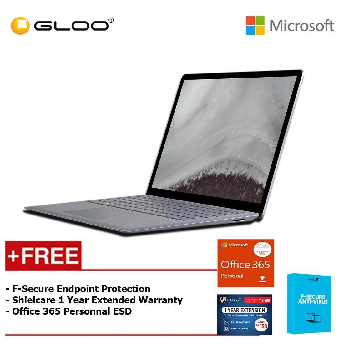 Microsoft Surface Laptop 2 Core i5/8GB RAM - 256GB + Office 365 Personal (ESD) + Shieldcare 1 Year Extended Warranty + F-Secure EndPoint Protection