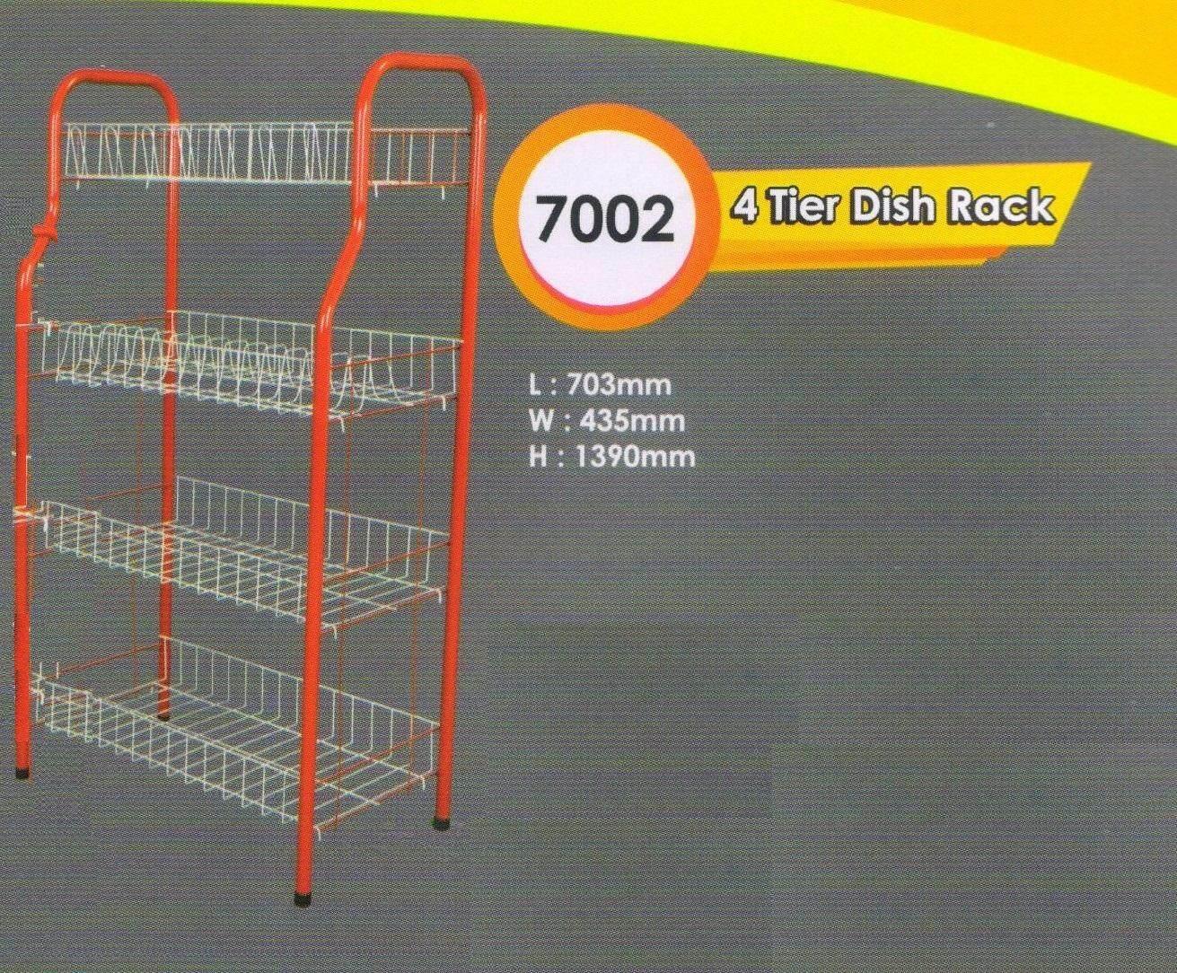 4 tier dish rack/ rak dapur/ rak pinggan 4 tingkat DIY WM-7002