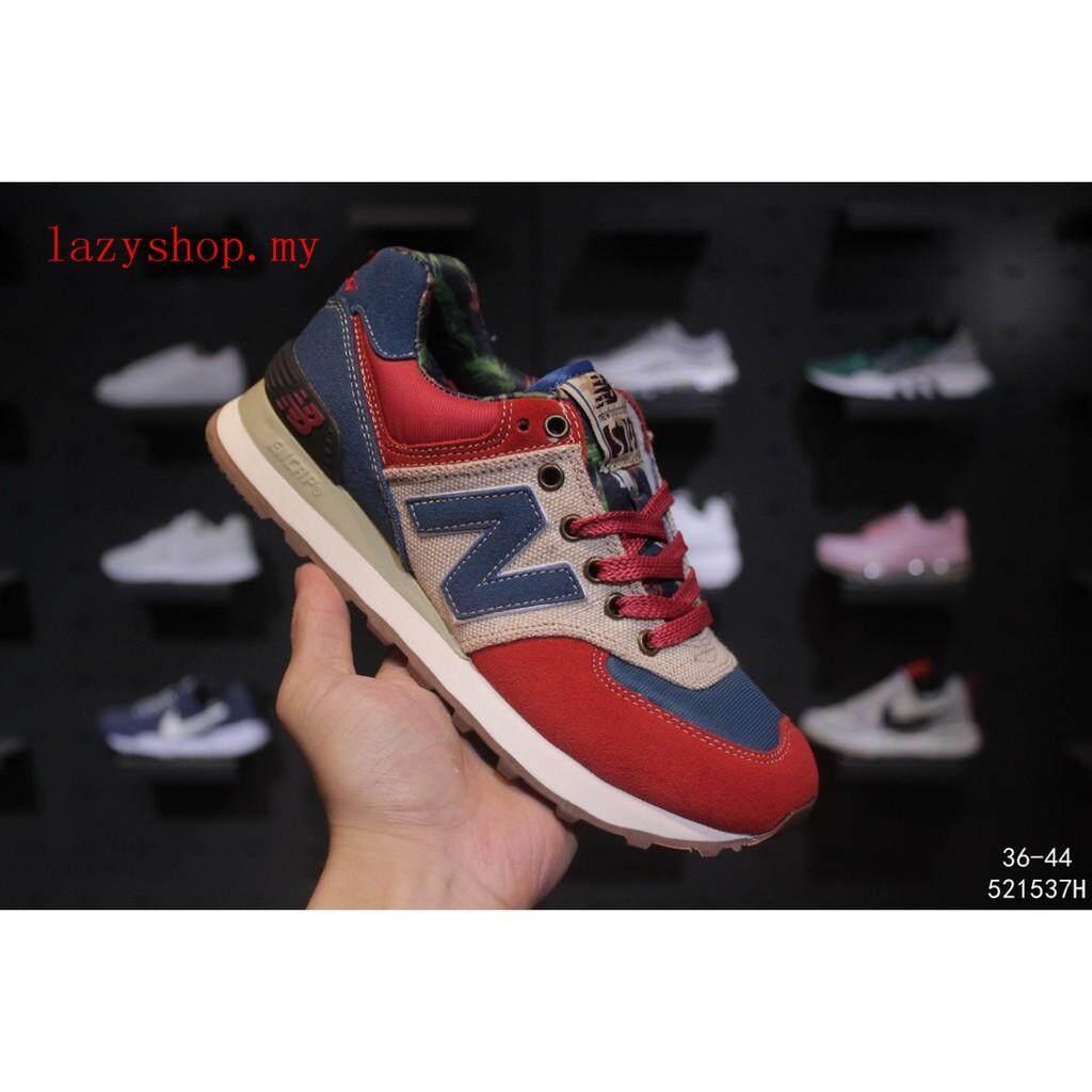 ยี่ห้อไหนดี  นครนายก ขายดี New Balance ผู้หญิงผู้ชายกีฬารองเท้าผ้าใบรองเท้าลำลองวิ่งสีแดง