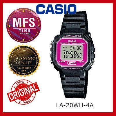 (2 YEARS WARRANTY) CASIO ORIGINAL LA-20WH-4A DIGITAL KID'S WATCH
