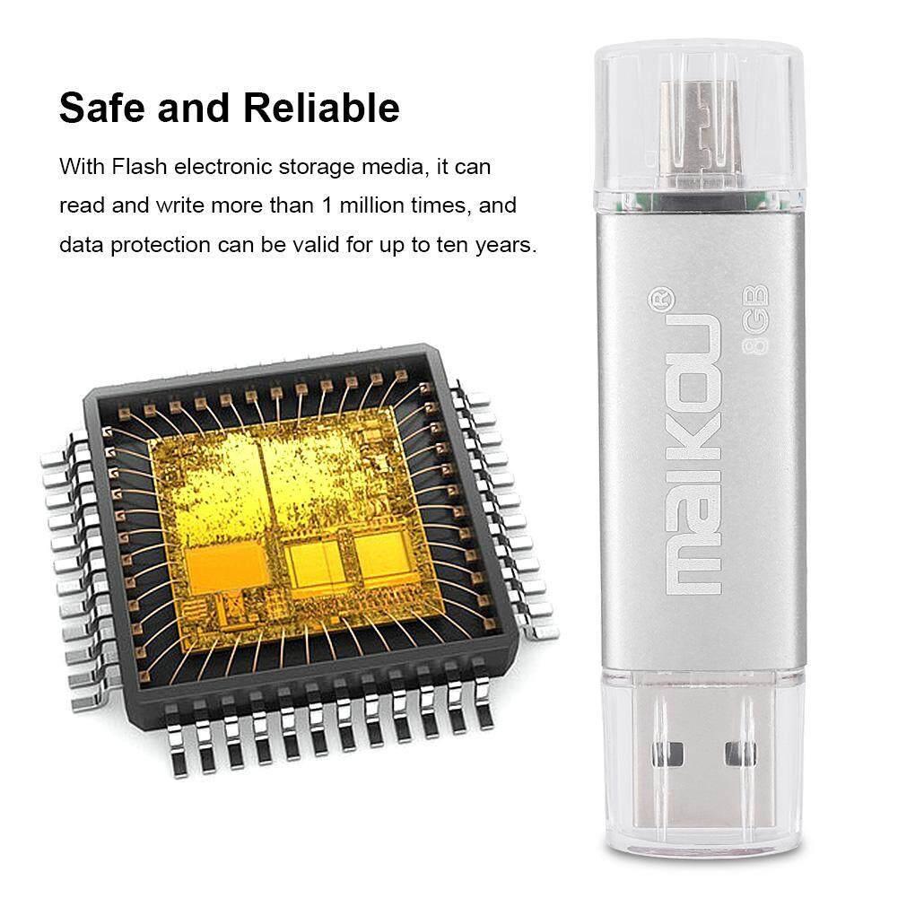 Storage & Hard Drives - Stick USB OTG 0 2 Drive U High Portable Disk Speed Memory Flash Dual-use Silver - [8G / 16G / 32G / 64G / 128G]