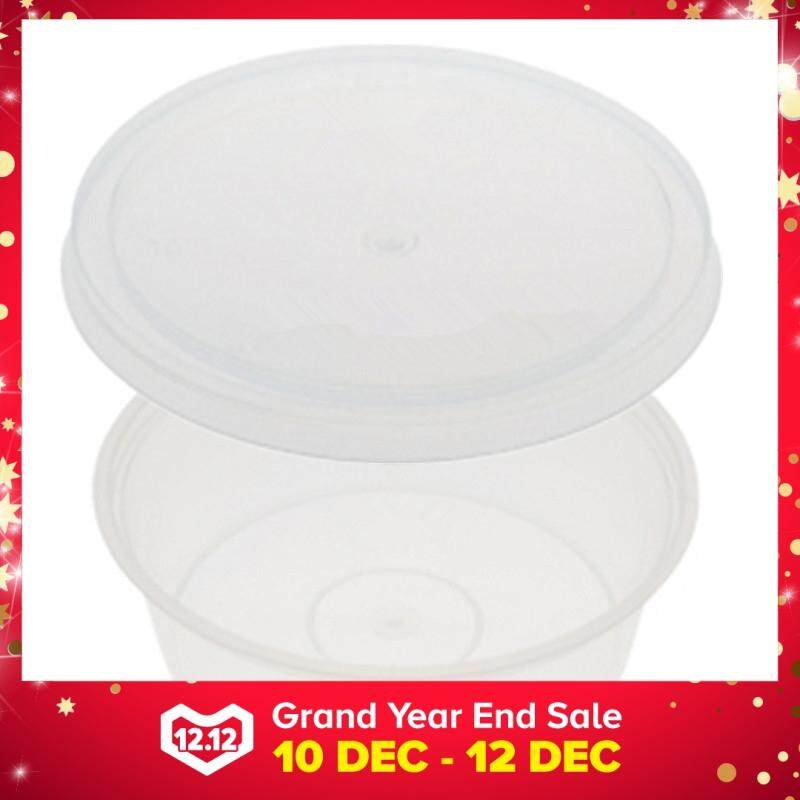 225ml PP Microwavable Round Containers With Lids Clear 5pcs