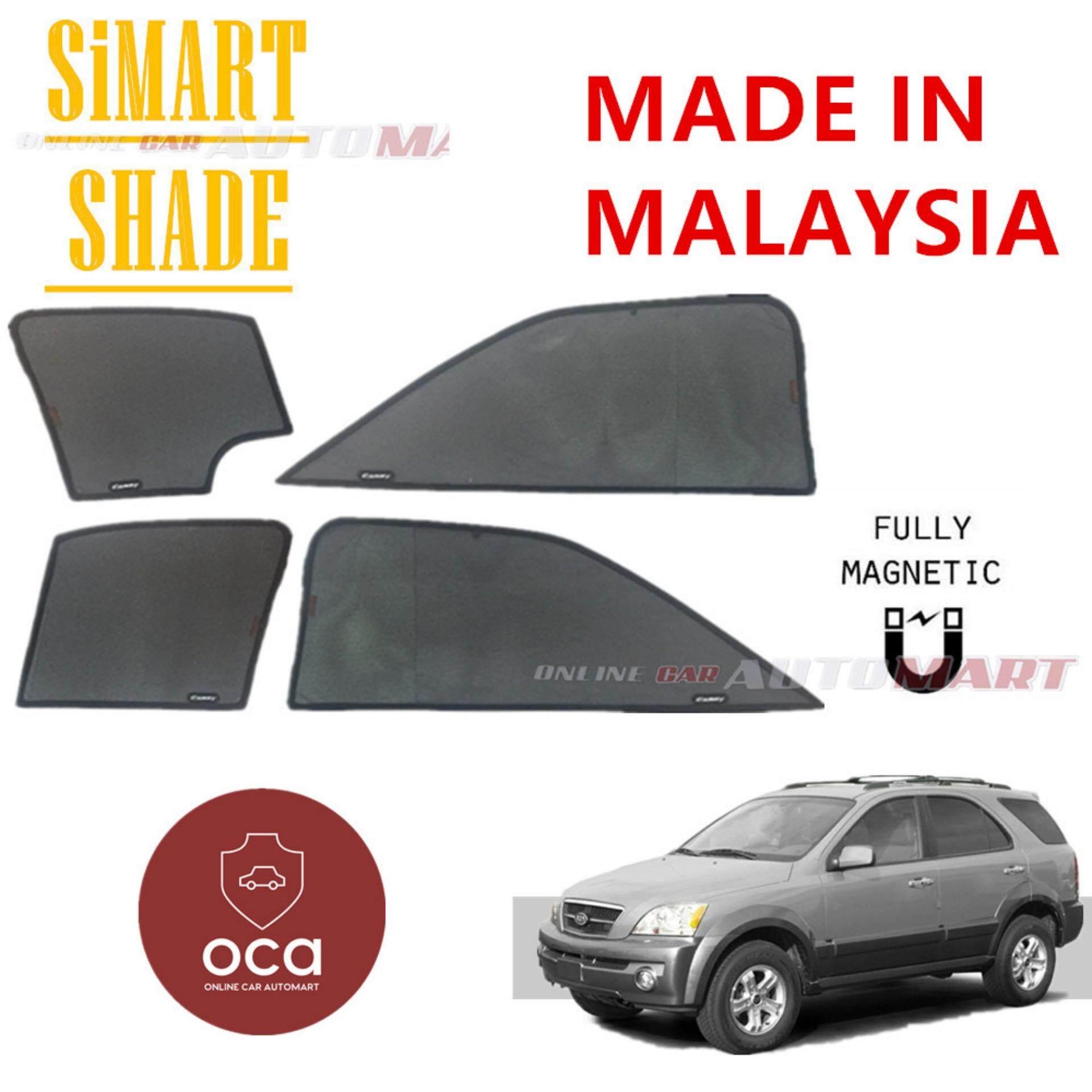 Simart Shade Magnetic Custom Fit OEM Sunshade For Kia Sorento Yr 2002-2009 6pcs (Made In Malaysia)