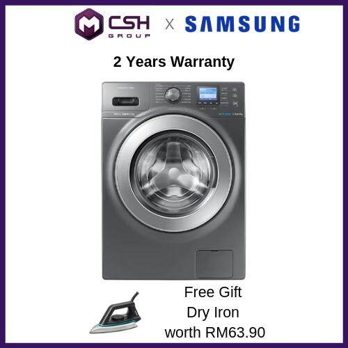 Samsung Front Load Combo Washer with Eco Bubble, 12kg wash & 8kg dry (WD12F9C9U4X) WD12F9C9U4X/FQ
