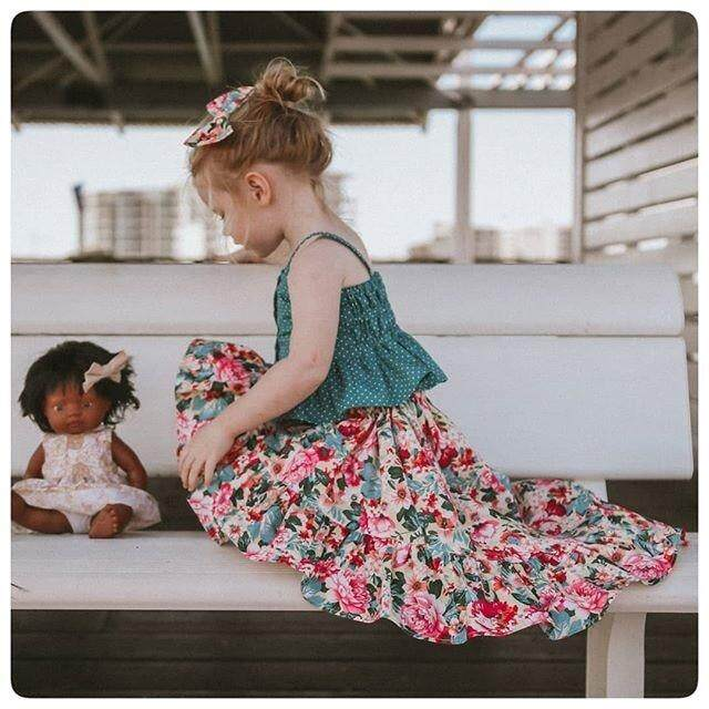 Detail Gambar Peri Anak-anak Bintik Anak Perempuan Kawat Gigi + Tidak Teratur Floal Panjang Pakaian Set Anak-anak Pesta Pernikahan Gadis Gaun Hadiah Ulang ...