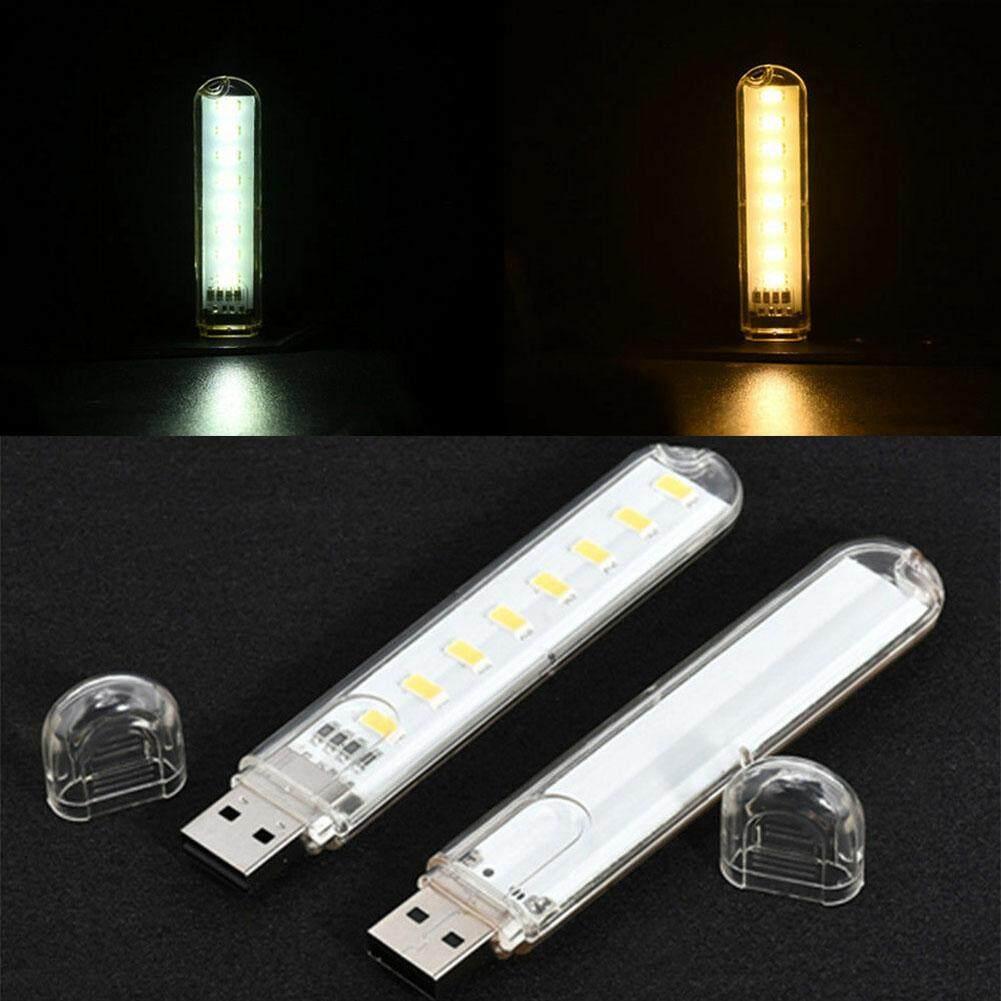 Portable 2Pcs Mini USB LED Light Pocket Card Camping Lamp Mobile Power New