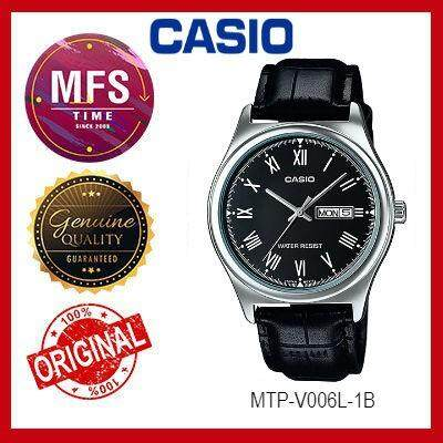 (2 YEARS WARRANTY) CASIO ORIGINAL MTP-V006L-1B ANALOG-MEN'S WATCH