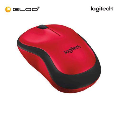 Logitech® M221 Silent Wireless Mouse - Red (910-004884)